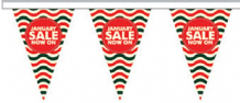 January Sale Style 4 Superior Bunting 5m (16') Long With 12 Flags